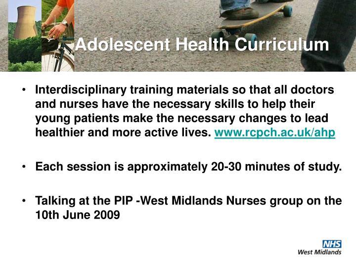 Adolescent Health Curriculum