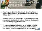 multi agency working around safeguarding police education heath and social care