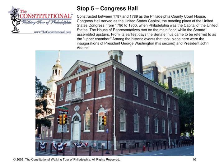 Stop 5 – Congress Hall