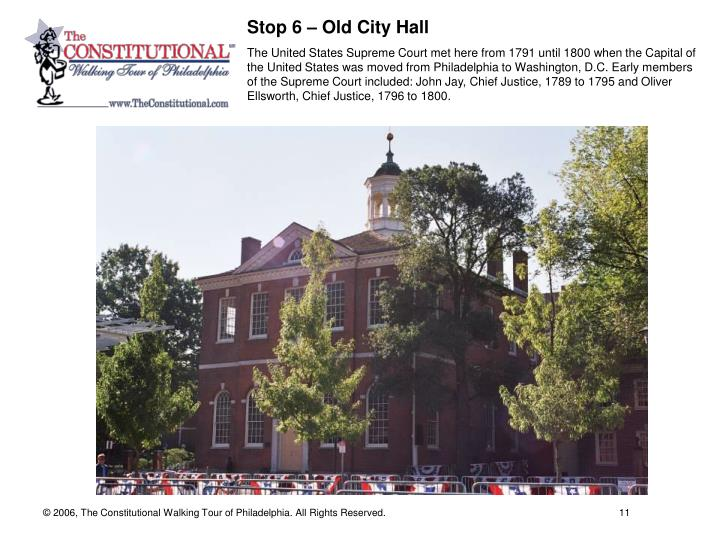 Stop 6 – Old City Hall
