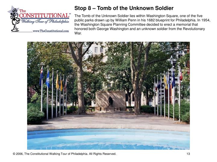 Stop 8 – Tomb of the Unknown Soldier