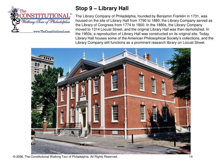 Stop 9 – Library Hall
