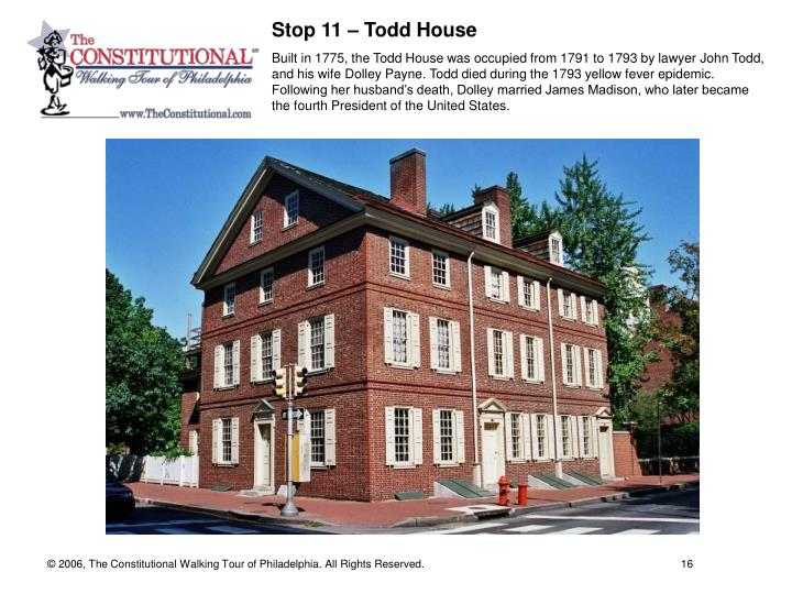 Stop 11 – Todd House