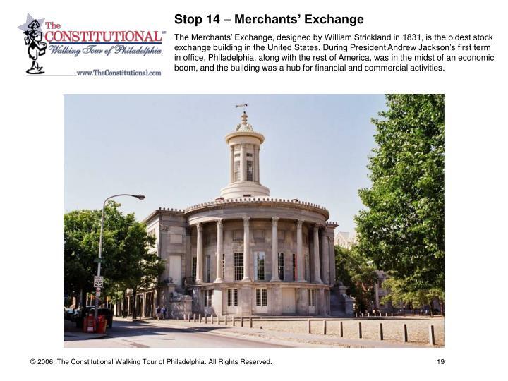 Stop 14 – Merchants' Exchange