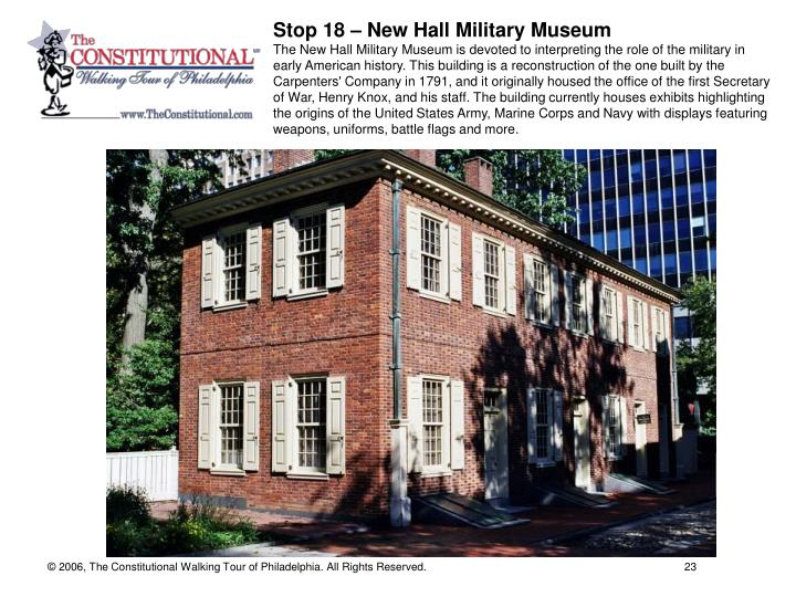 Stop 18 – New Hall Military Museum