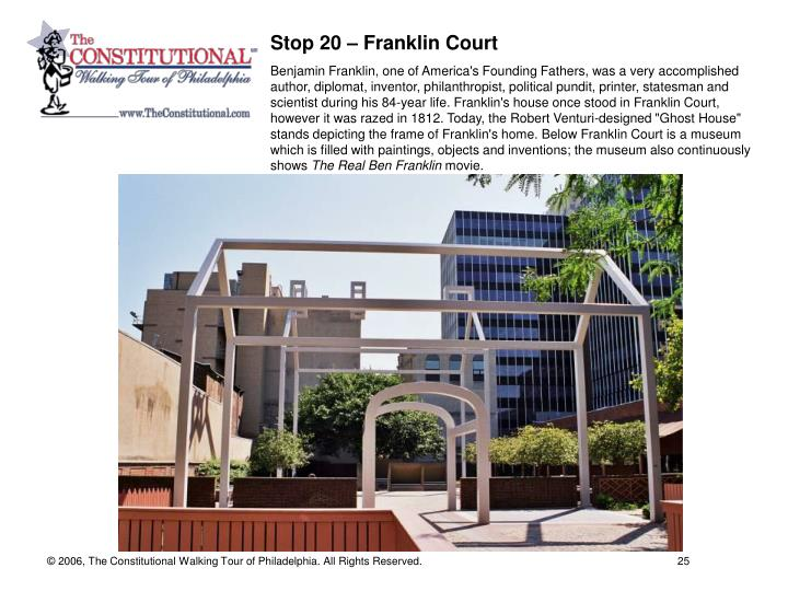 Stop 20 – Franklin Court