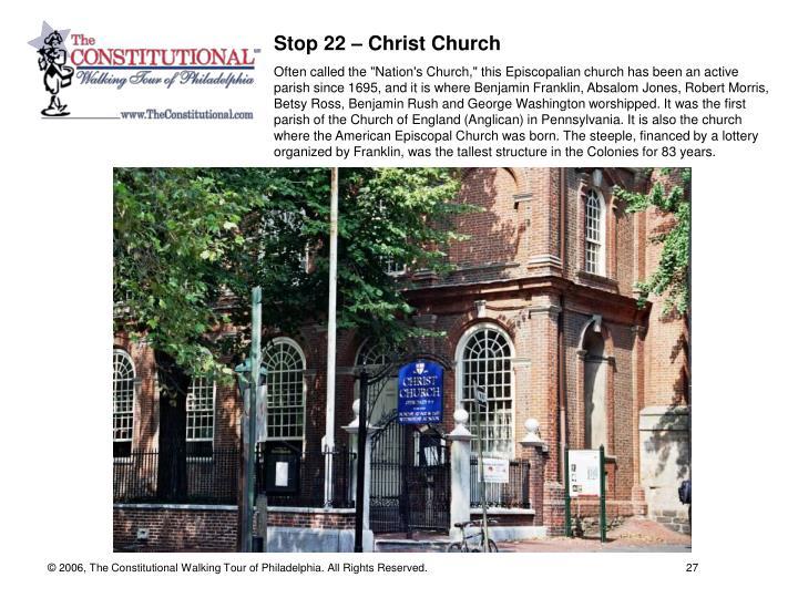 Stop 22 – Christ Church