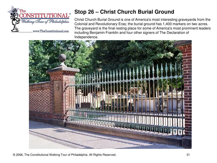 Stop 26 – Christ Church Burial Ground
