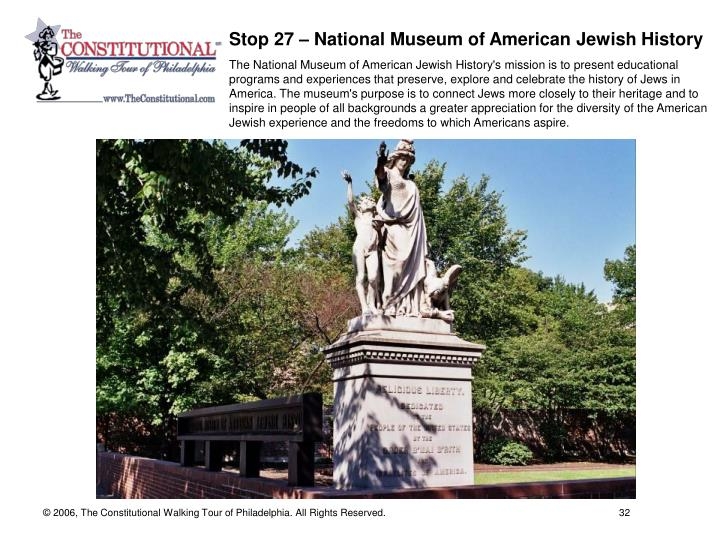 Stop 27 – National Museum of American Jewish History