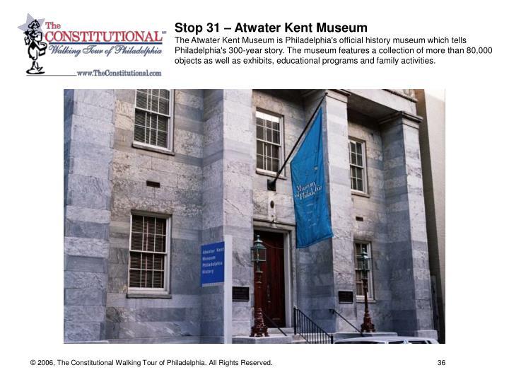 Stop 31 – Atwater Kent Museum