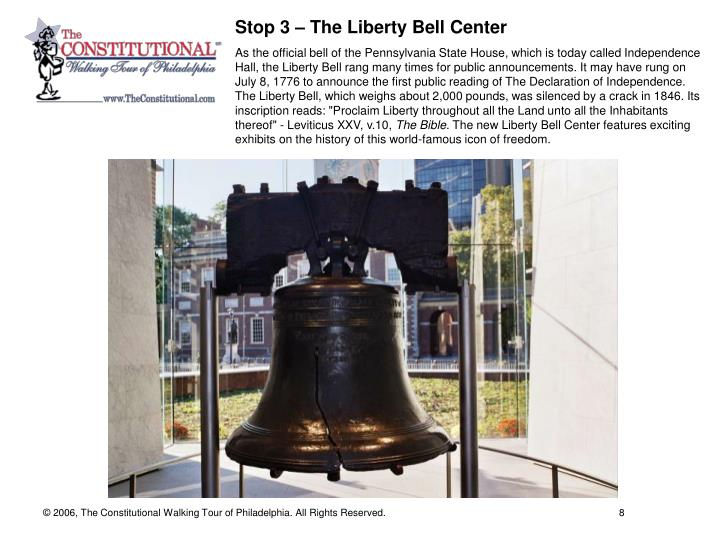 Stop 3 – The Liberty Bell Center