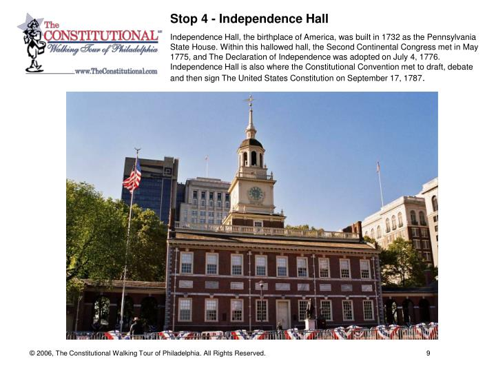 Stop 4 - Independence Hall