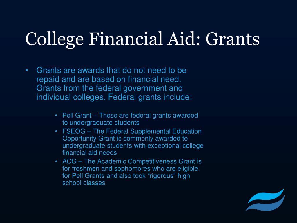 College Financial Aid: Grants