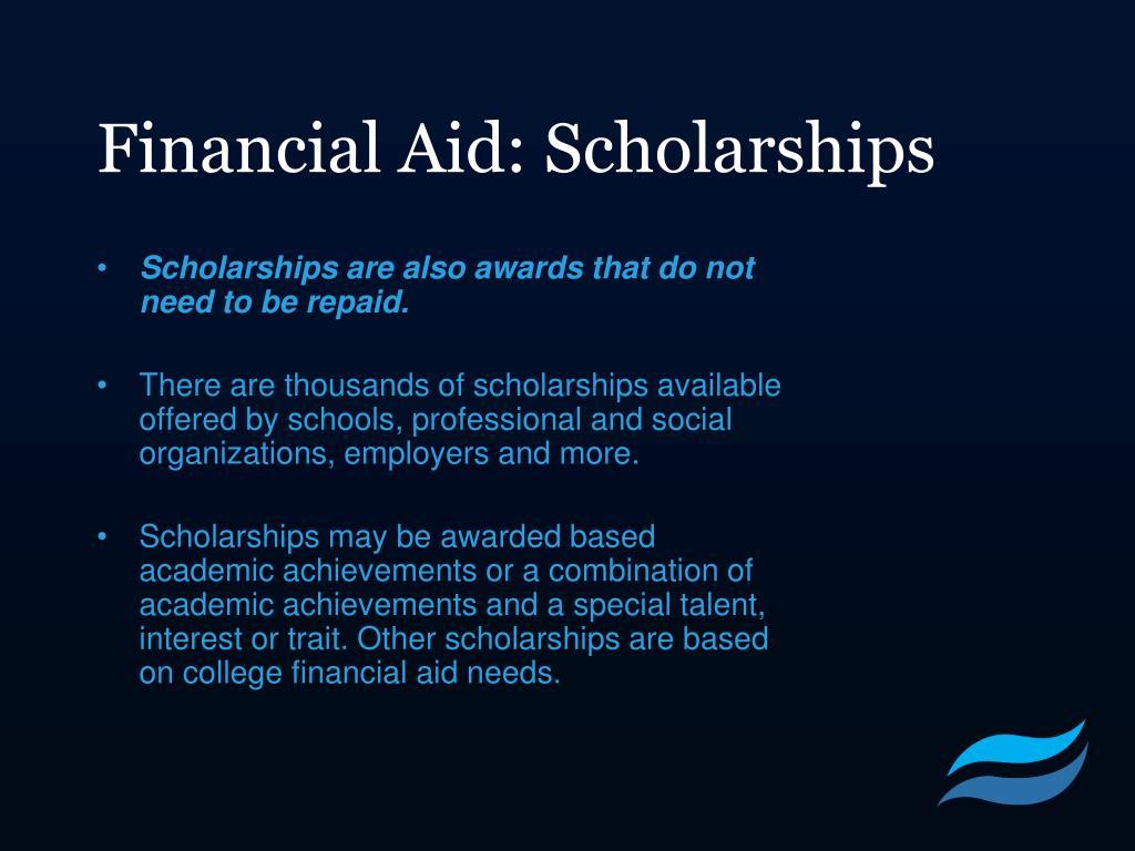 Financial Aid: Scholarships