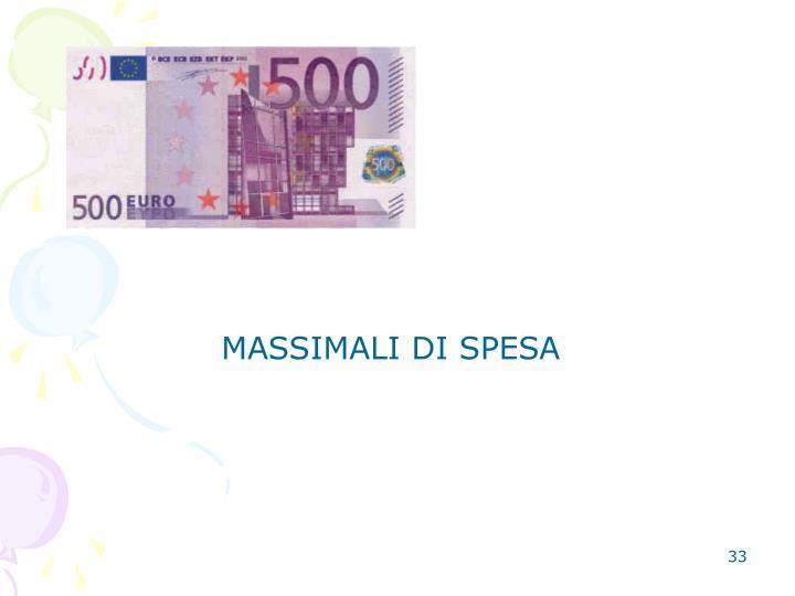 MASSIMALI DI SPESA