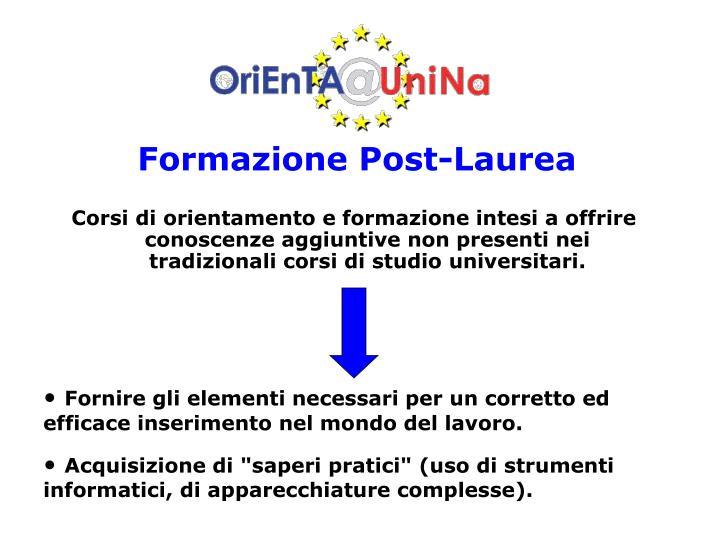 Formazione Post-Laurea