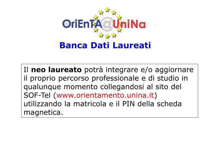 Banca Dati Laureati