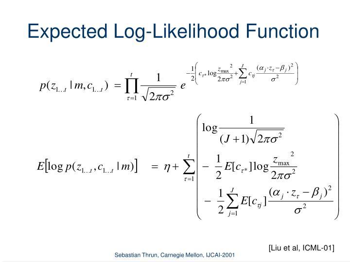 Expected Log-Likelihood Function