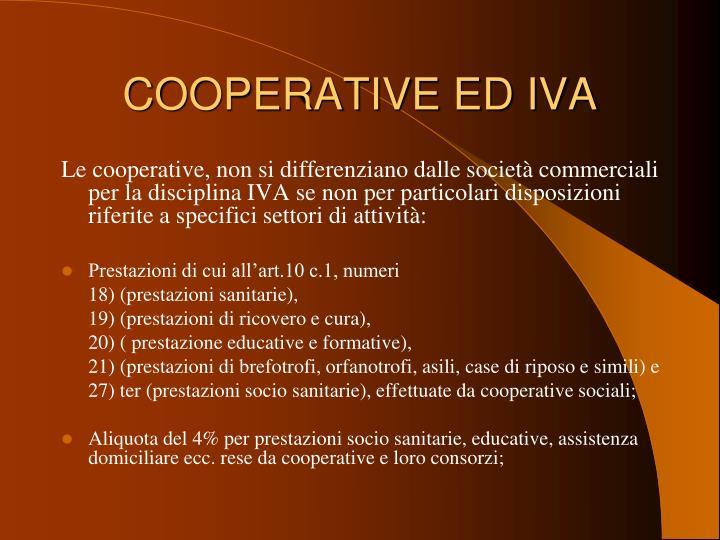COOPERATIVE ED IVA
