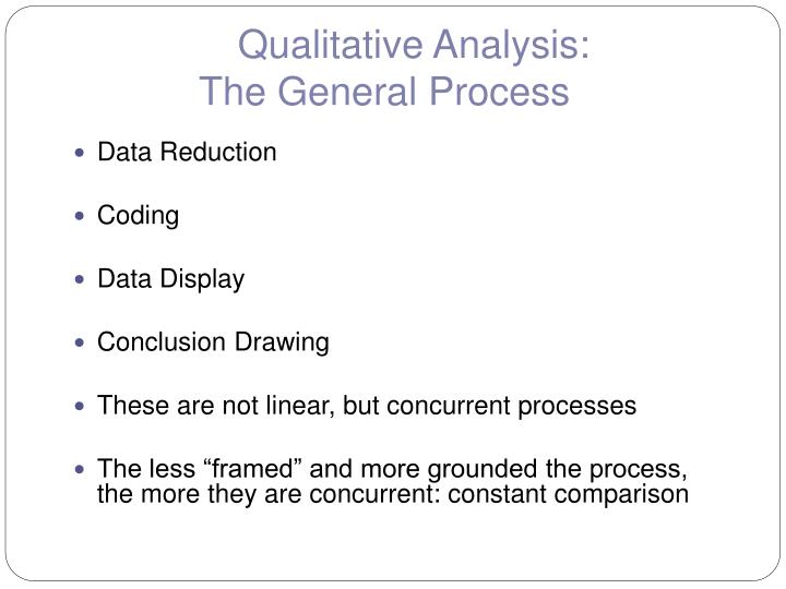 Qualitative Analysis:
