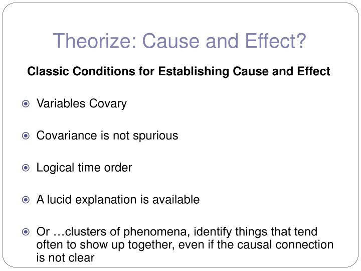 Theorize: Cause and Effect?
