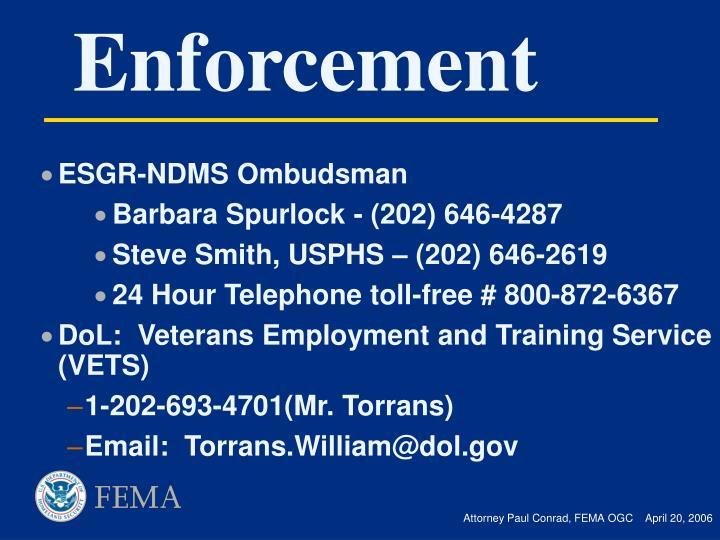ESGR-NDMS Ombudsman
