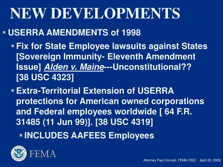 USERRA AMENDMENTS of 1998