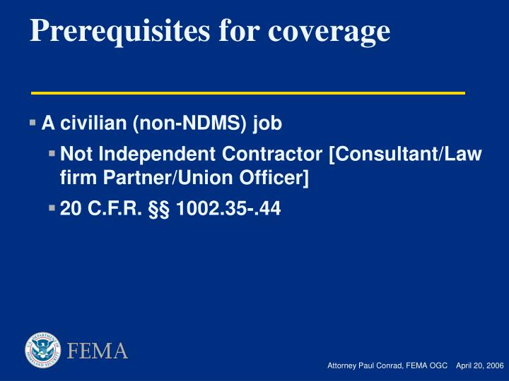 A civilian (non-NDMS) job