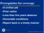 prerequisites for coverage11