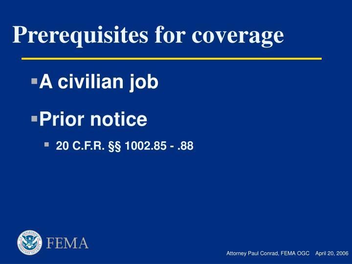 A civilian job