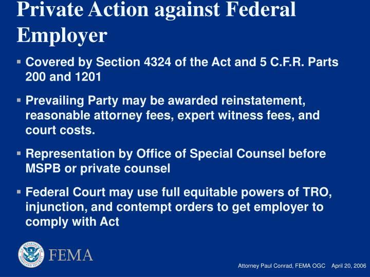 Covered by Section 4324 of the Act and 5 C.F.R. Parts 200 and 1201