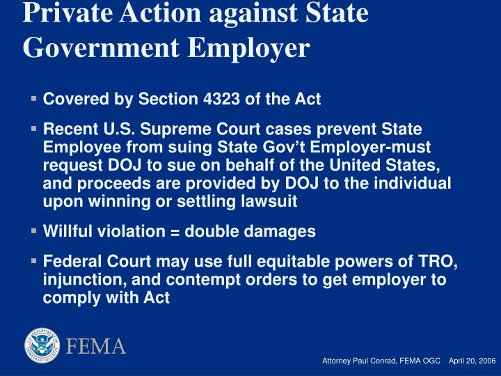 Covered by Section 4323 of the Act