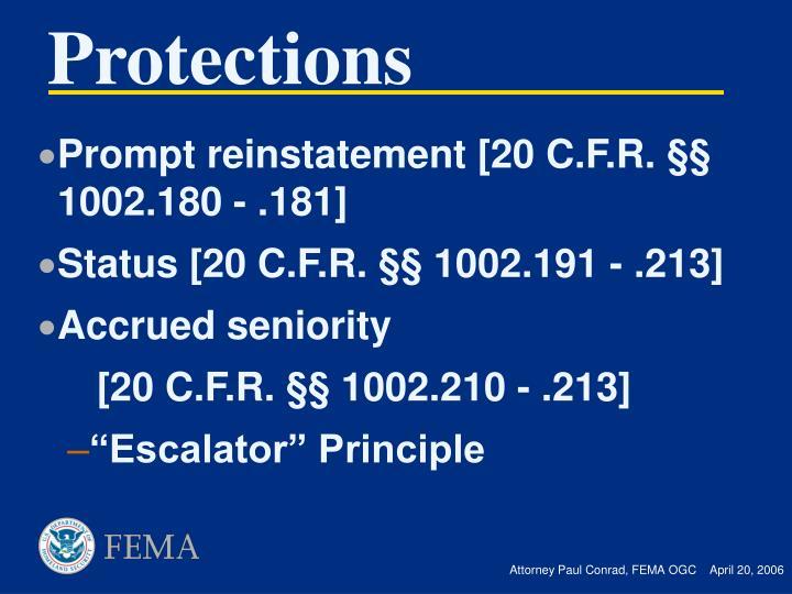 Prompt reinstatement [20 C.F.R.