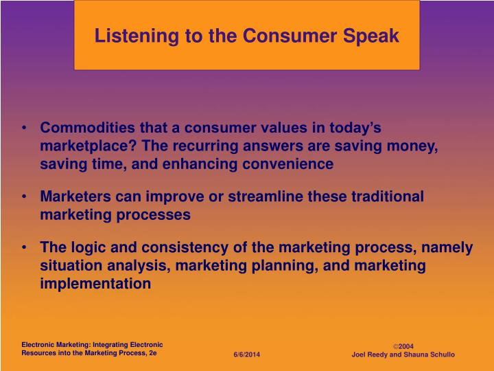 Listening to the Consumer Speak