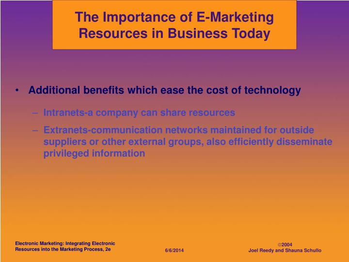 The Importance of E-Marketing Resources in Business Today