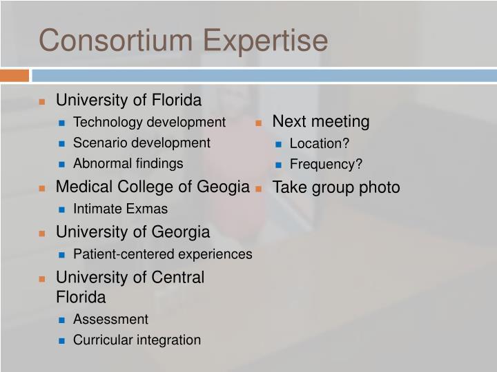 Consortium Expertise