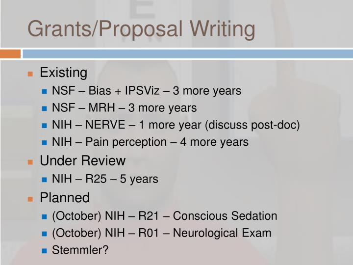 Grants/Proposal Writing