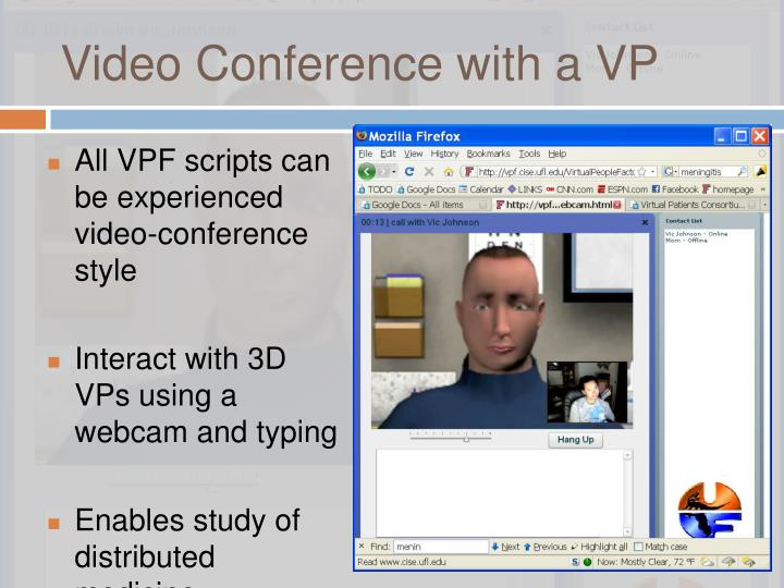 Video Conference with a VP