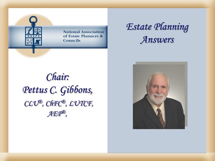 Estate Planning Answers