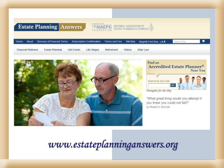 www.estateplanninganswers.org