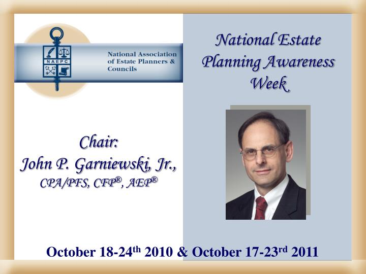 National Estate Planning Awareness Week