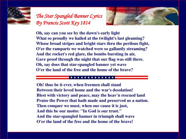 The Star Spangled Banner Lyrics