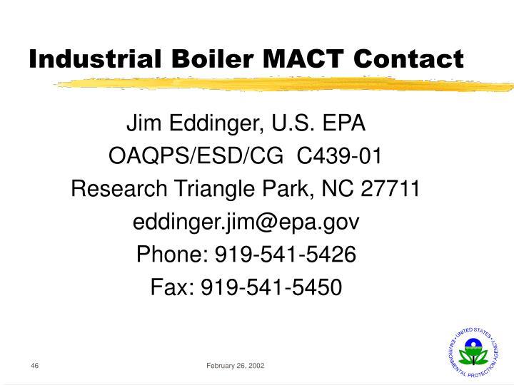 Industrial Boiler MACT Contact