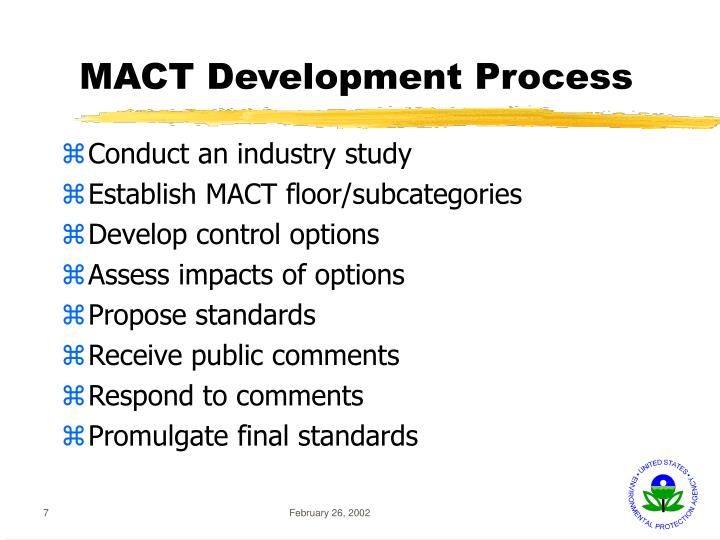 MACT Development Process