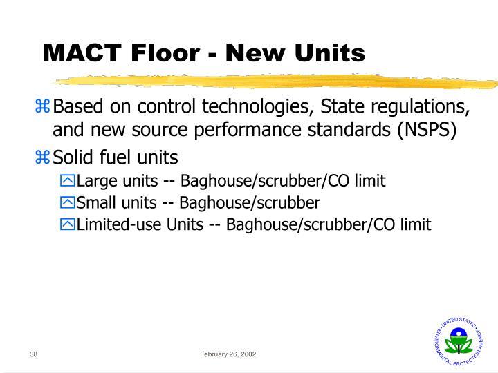 MACT Floor - New Units