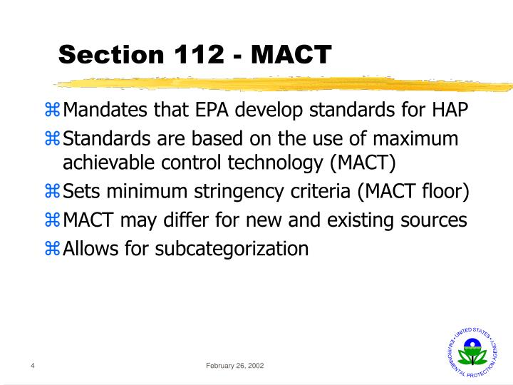 Section 112 - MACT