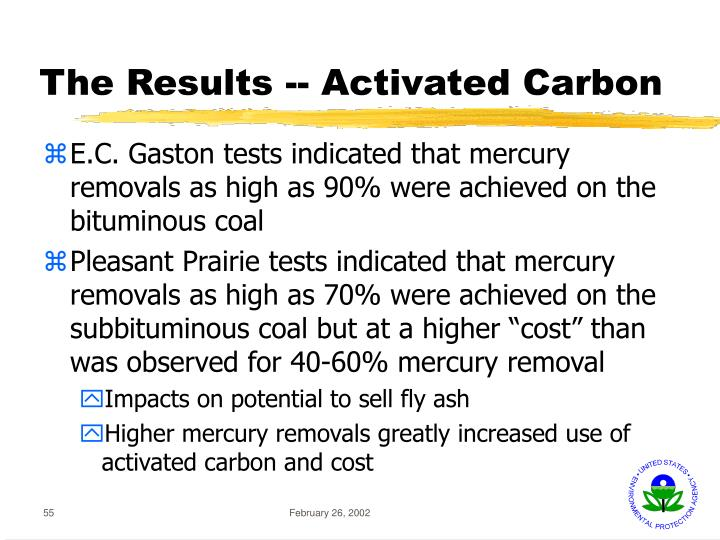 The Results -- Activated Carbon