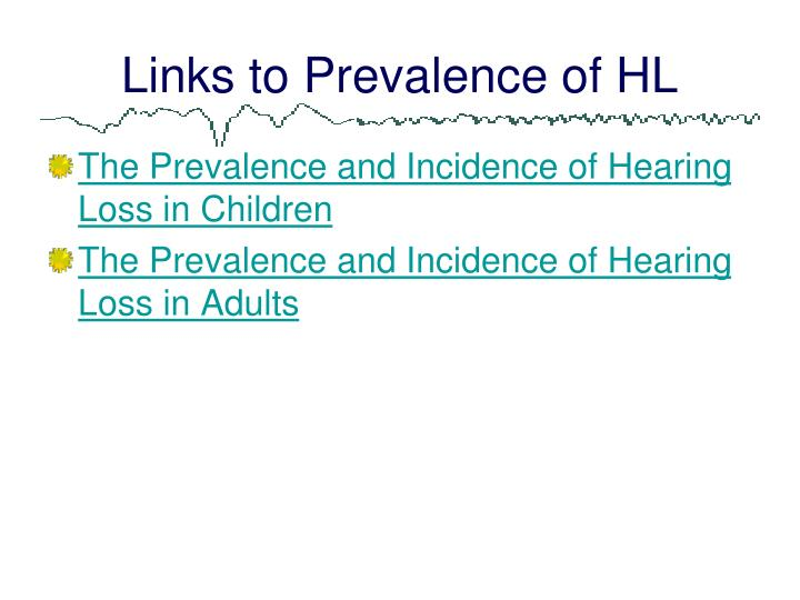 Links to Prevalence of HL
