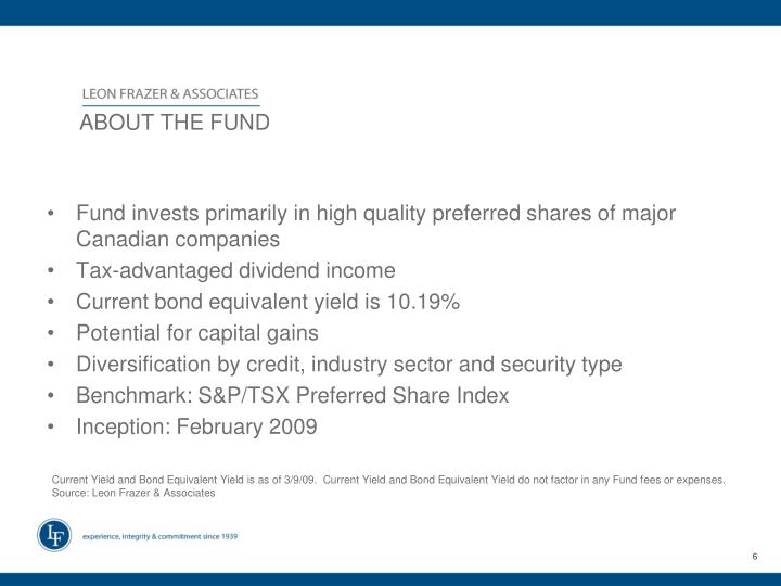 ABOUT THE FUND