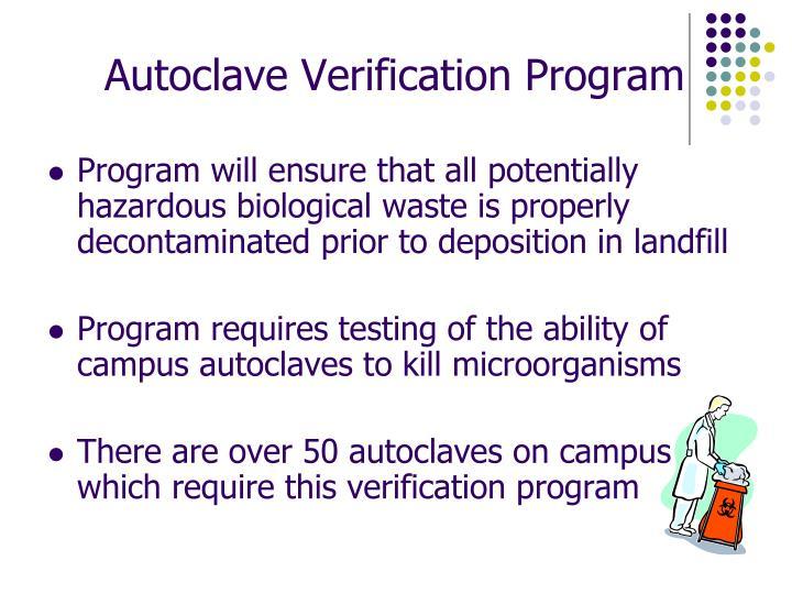 Autoclave Verification Program